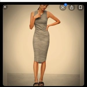 Wilfred Free long grey tank dress XS